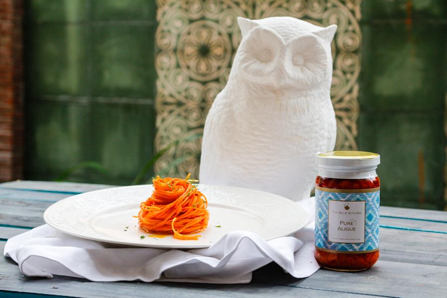 Recipe: Garlic Aligue Pasta